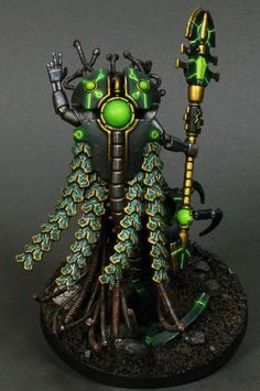 If your unlucky enough to be on a Necron Tomb World when it awakens from its slumber the best you can hope for is a swift death! Warhammer Figuren, Warhammer 40k Necrons, Warhammer Paint, Warhammer Models, Warhammer 40k Miniatures, Warhammer Fantasy, Warhammer Armies, 40k Armies, Necron Army