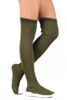 9e1734aee Womens Over The Knee Boots Flat Heeled Comfortable Sock Like Bamboo  Flight-04M  Bamboo