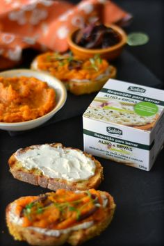 Cottage Cheese, Squash and Caramelized Onion Tartines