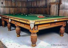 Custom Pool Tables, Mansions Homes, Green Man, Game Room, Hand Carved, Carving, Antiques, Games, Minnesota
