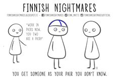 Full of uncomfortable social situations. Finnish Memes, Satw Comic, Finnish Words, Hilarious, Funny, Introvert, Nostalgia, Comics, Sayings
