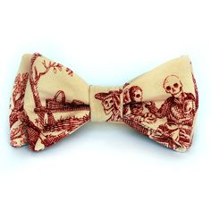 Pajarita Victorian Skulls bow tie - Wood and Rain bow ties