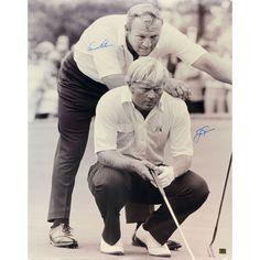 "Jack Nicklaus & Arnold Palmer Fanatics Authentic Autographed 30"" x 40"" 1965 Masters Photograph"