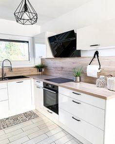 Home Decor Kitchen, Kitchen Interior, Home Kitchens, Kitchen Dining, Küchen Design, House Design, Interior Design, Kitchen Organisation, Scandinavian Kitchen