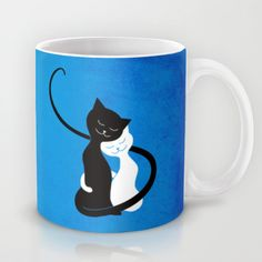 White And Black #Cats In #Love #Mug $15.00