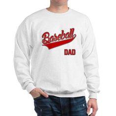 511c1a16bfbe30 Baseball Dad Sweatshirt on CafePress.com Crew Neck Sweatshirt