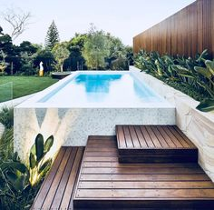 From a Tuscan-style resort to a rustic farmhouse swimming pool, these pools will. Pool Landschaftsgestaltung From a Tuscan-style resort to a rustic farmhouse swimming pool, these pools will. - Home Decor Design Backyard Pool Landscaping, Backyard Pool Designs, Small Backyard Pools, Small Pools, Swimming Pools Backyard, Swimming Pool Designs, Landscaping Ideas, Patio Ideas, Pool Fence