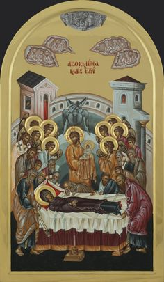 Dormition of our most holy Queen, the Theotokos and Ever-Virgin Mary. preceded by the Dormition Fast (Spasivka) Aug. Byzantine Icons, Byzantine Art, Religious Icons, Religious Art, Christ The King, Blessed Mother Mary, Catholic Art, Orthodox Icons, Sacred Art