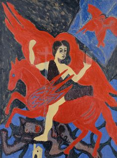 Enchanted Rider, 1961, Bob Thompson, oil on canvas, 62 3/4 x 46 7/8 in. (159.5 x 119.0 cm.), Smithsonian American Art Museum, Gift of Mr. and Mrs. David K. Anderson, Martha Jackson Memorial Collection, 1975.21