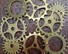 Schublade viel 5pc Steampunk Vintage Messing von UmbrellaLaboratory