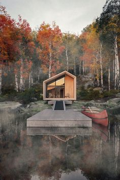 leckie studio designs a prefabricated flat-packed cabin for .- leckie studio designs a prefabricated flat-packed cabin for backcountry hut company leckie studio designs a prefabricated flat-packed cabin for backcountry hut company designboom - Tiny House Cabin, Tiny House Design, Small Cabin Designs, Hut House, Cabin Homes, Tiny Houses, Lake Cabins, Cabins And Cottages, Cabins In The Woods