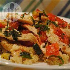 Poulet et quinoa au fromage feta et aux légumes @ qc.allrecipes.ca