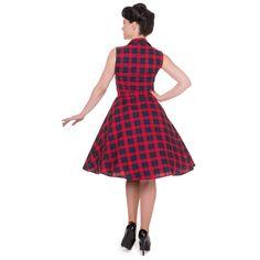 Poppy Vintage Shirt Swing Dress in Red - Sale!