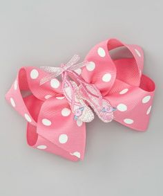 Take a look at this Baby Pink Ballerina Bow Clip by Charla's Place on #zulily today!