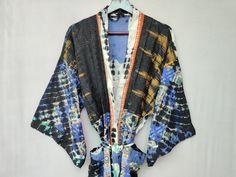 Long Kaftan Dress, Long Kimono, Saree Dress, Cotton Kaftan, Cotton Jacket, Womens Pjs, Bohemian Kimono, Summer Kimono, Gypsy Skirt