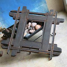 vintage frame....  tramp art...  Oct 10a by CoolVintage on Etsy, $27.50