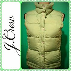 J Crew Ladies Vest Zippered Front with Buttons, Side Pockets,  Washable Vest,  Size Tag was Cut but Fits XS to Small,  Mint Condition J. Crew Jackets & Coats Vests