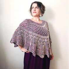 Ravelry: Dandelion Fields Poncho pattern by Lesley Anne Robinson Stitch Patterns, Knitting Patterns, Knitting Kits, Knitting Websites, Anne Robinson, Knit In The Round, Knitted Poncho, Hand Dyed Yarn, One Design