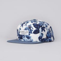 The Quiet Life Floral Snapback Cap White Floral / Steele Blue Bill (£37.00) - Svpply