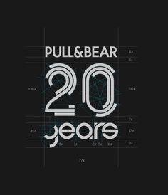 Pull&Bear XX Anniversary on Behance Design Logo, Brochure Design, Branding Design, Motion Logo, Design Campaign, 10 Logo, Anniversary Logo, Creative Logo, Cool Logo