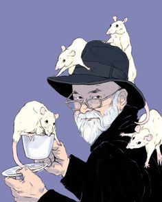 "raccoonmilk: ""been thinking of Sir Terry Pratchett. """