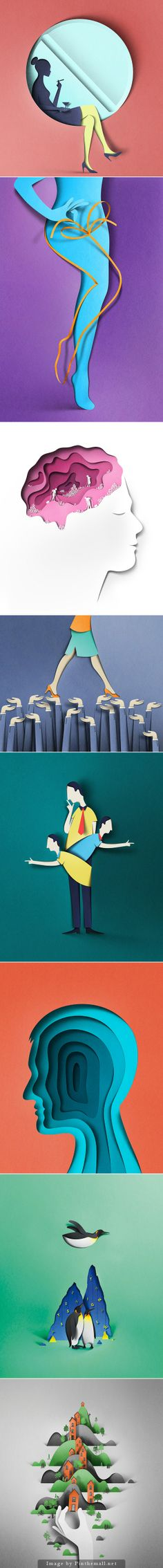 http://www.behance.net/gallery/16452435/Editorial-illustrations... - a grouped images picture - Pin Them All