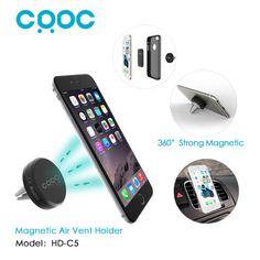 Crdc pintar universal 360 derajat mobil pemegang magnetic air vent mount smartphone dock pemegang ponsel ponsel berdiri sebagai aukey