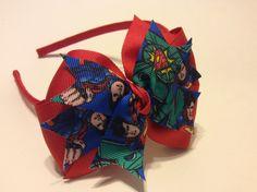 Superman Headband/Superman Hair Bow/Hero Hair Bow by PartTimeDiva on Etsy