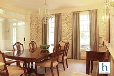 Flare, Dining Room, House Design, Curtains, Traditional, Interior Design, Chic, Kitchen, Home Decor