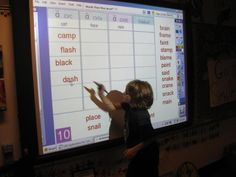 Words Their Way Sorts on Smartboard