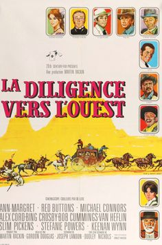 "Stagecoach (1966) Vintage French Movie Poster - 23"" x 32"""