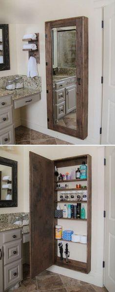 Bathroom Mirror Storage Cabin