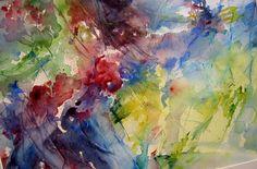 astratto fiori acquerello 35 x50