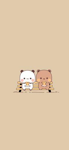 Cute Bunny Cartoon, Cute Cartoon Pictures, Cute Love Cartoons, Cute Profile Pictures, Cute Images, Cute Wallpapers For Ipad, Panda Wallpapers, Cute Cartoon Wallpapers, Wallpaper Panda