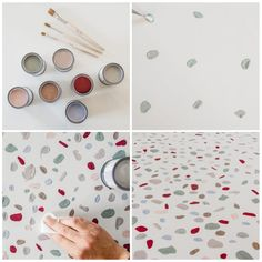 Affordable Terrazzo Marble Decor Pieces For Home Wall Painting Decor, Diy Painting, Copper Kitchen Decor, Wall Stencil Patterns, Terrazzo Flooring, Wall Drawing, Hand Painted Walls, Do It Yourself Home, Home And Deco