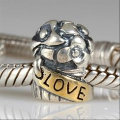 Love Bouque Authentic Sterling Silver Solid Core Charms