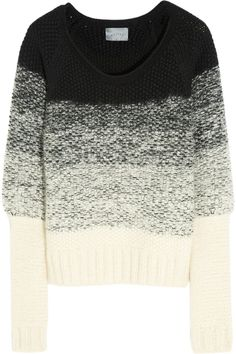 Maiyet| Degradé chunky-knit mohair-blend sweater|NET-A-PORTER.COM (but I would switch the colours, light on top, dark on the bottom)