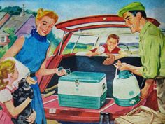 1950s Road Trip [http://rogerwilkerson.tumblr.com/post/24629029912/loading-up-the-station-wagon]