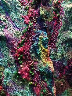 Nuno Felted Hand Dyed Scarf by FeltedPleasure, via Flickr