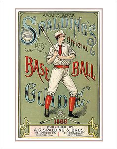 Spaldings 1889 Baseball Guide print  11x14 print  by aswegoArts, $17.50
