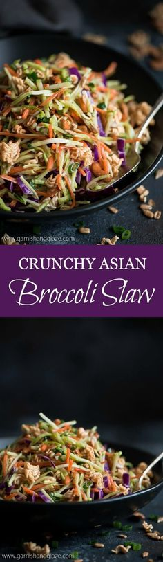 This sweet and salty, veggie filled Crunchy Asian Broccoli Slaw is the perfect side for Sunday dinner or your next barbecue party.