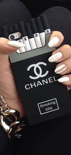 phone case, phone cover, chanel, black and white Cheap Phone Cases, Cute Phone Cases, Iphone Cases, Telefon Apple, Smoking Kills, Cheap Iphones, Accessoires Iphone, Coque Iphone 6, Bad Girl Aesthetic