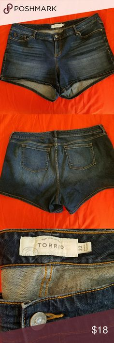 Torrid denim shorts Super cute and in excellent condition. Perfect for summer. Torrid  Jeans