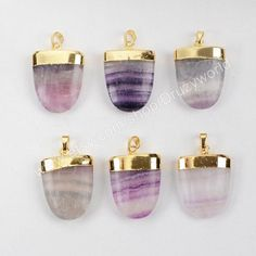 5% Off On Sale Gold Plated Natural Shield Multi-Color Fluorite Faceted Pendant Bead Gemstone Jewelry Pendant Necklace Pendant Making jewelr