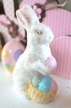 DIY Glittered Rabbit