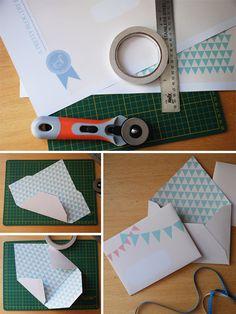 Seven Swans enveloppes modèles comment doubler enveloppes face {DIY}