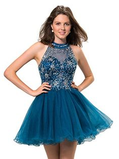 Broybuy Women's Sheer High Neck Beaded Backless Party Dress Size 2 Teal Blue Broybuy http://www.amazon.com/dp/B01CMCLMVY/ref=cm_sw_r_pi_dp_VCFbxb16HCDCG