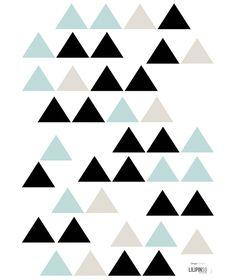 Sticker géométrique turquoise et noir