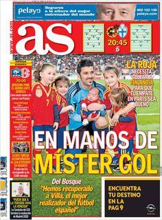 Los Titulares y Portadas de Noticias Destacadas Españolas del 22 de Marzo de 2013 del Diario Deportivo AS ¿Que le parecio esta Portada de este Diario Español?