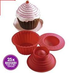 A Set of Corkscrew Spin Shape Cone-shape Silicone Cake Mold Jelly Cup (patrix Bottom part Big Top Cupcake, Giant Cupcake Mould, Cupcake Tree, Giant Cupcakes, Rustic Garden Wedding, Baking Set, Jelly, Cake Decorating, Treats